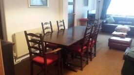 Ercol Refectory Dining Table And 6 Chairs Vintage