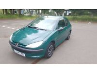 2001 Peugeot 206 1.1 Petrol 11 Month MOT Full Service History Good Condition  Cards Accepted 