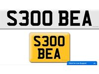 S300 BEA Mercedes S300 cheap private cherished personalised personal registration plate number