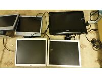 MONITORS 5X JOBLOT ( ALL ARE VGA CONNECTION )