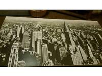 Large Black and white midtown print backed on canvas