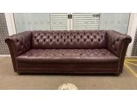 Stunning leather chesterfield 2/3 seater sofa £750