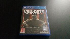 Call of Duty Black Ops 3 for PS4. Brand new game, (still in cellophane)