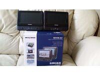 Nextbase SDV48AC Twin 7' Portable Car DVD Players / Car Kit