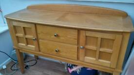Real wood sideboard in excellent condition