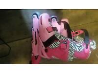 Zinc adjustable pink roller blades size 13-3