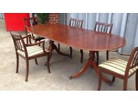 Dining table and chairs solid wood extendable I CAN DELIVER FREE IF LOCAL!