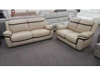 Libra Leather 3 & 2 Seater Sofas Can Deliver