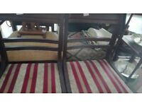Pair of wooden chairs sturdy and in good condition