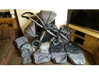 Oyster Max 2 Double Pushchair System + Extras