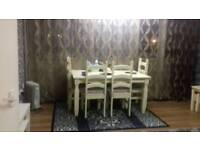 Wood white dining table for sale