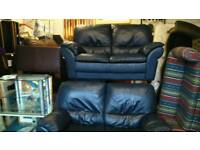 Two real leather sofas Italian