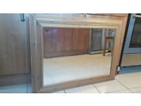 Large Wooden Framed Mirror Excellent Condition 98 x 68cm £6