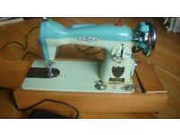 Vintage electric sewing machines x 2. Alfa & Eterna for spares/repairs/props