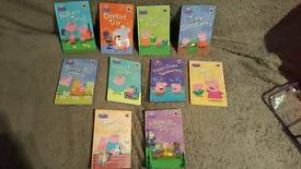 Peppa pig book set with cary bag