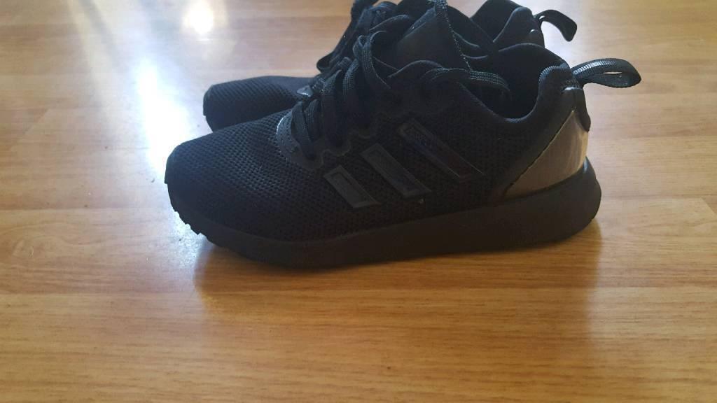 0990439b0b7b4 Kids Adidas Black Black Zx Flux Adv Trainers