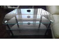 3 shelf glass tv stand excellent condition