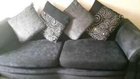 Good condition DFS fabric sofas for sale