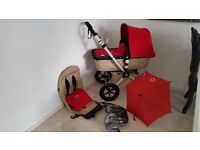 Bugaboo cameleon sand and red
