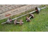 70kg Iron Weights Set - mostly York