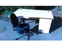 Special Offer- 1x desk inc drawers & 1x chair £120.00 be quick!!!!!