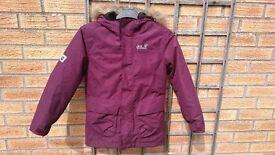 Jack Wolf-skin jacket for sale. Kids size small 140cm.