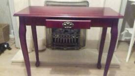 Redwood coloured console table