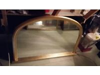 Classic french inspired John Lewis gold gilt overmantle mirror