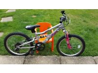 "Girls mountain bike 20"" wheels"