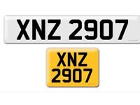XNZ 2907 private cherished personalised personal registration plate number