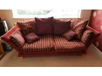 Red 3 seater