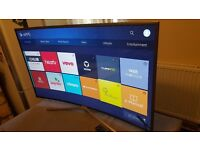 SAMSUNG 43-inch CURVED SCREEN Smart 4K HDR LED TV-43KU6500, built in Wifi,EXCELLENT CONDITION