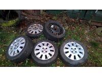 03 reg Vauxhaul corsa alloys, and spare wheel
