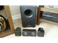 Canton Movie 85 CX home cinema system including active subwoofer. Excellent unmarked condition.