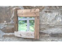 small driftwood vintage bevelled glass mirror