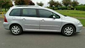 1 YEAR MOT + 7 SEATER + GLASS PANAROMIC ROOF + PEUGEOT 307 DIESEL 1997cc + HPI CLEAR + 2 KEYS +
