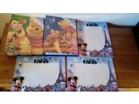 2 winnie photo albums and 3 frames