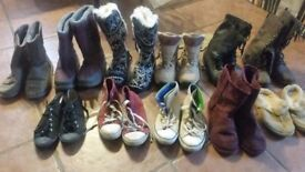 Ladies Women's Girls Shoes Trainers Boots Size 5