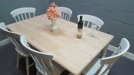 5FT Bespoke Shabby Chic Table & Chair Set