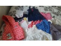 baby girl bundle of clothes 9-12 and 12-18