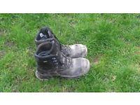 Mens steel toe cap boots size 10