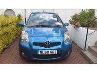 Toyota Yaris 1.3 TR VVT-1 ECO 3 door Blue 1 year MOT FSH £30 road tax