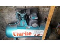 Air Compressor . 240 volt {single phase} 150 litre tank . £300.