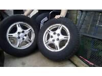 4 Hyundai trajet or similar (5 stud) tyres