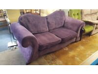 Large 2 Seat Purple Chenille Sofa