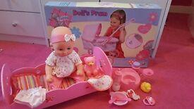 Baby doll pram bundle