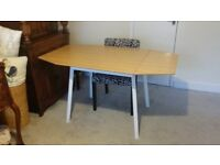 IKEA bamboo drop-leaf table