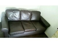 Free 3 seater settee and 2 chairs