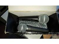 2 dynamic vocal mics 1 switched