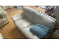 FREE Nice leather sofa, 2 seater, ivory color